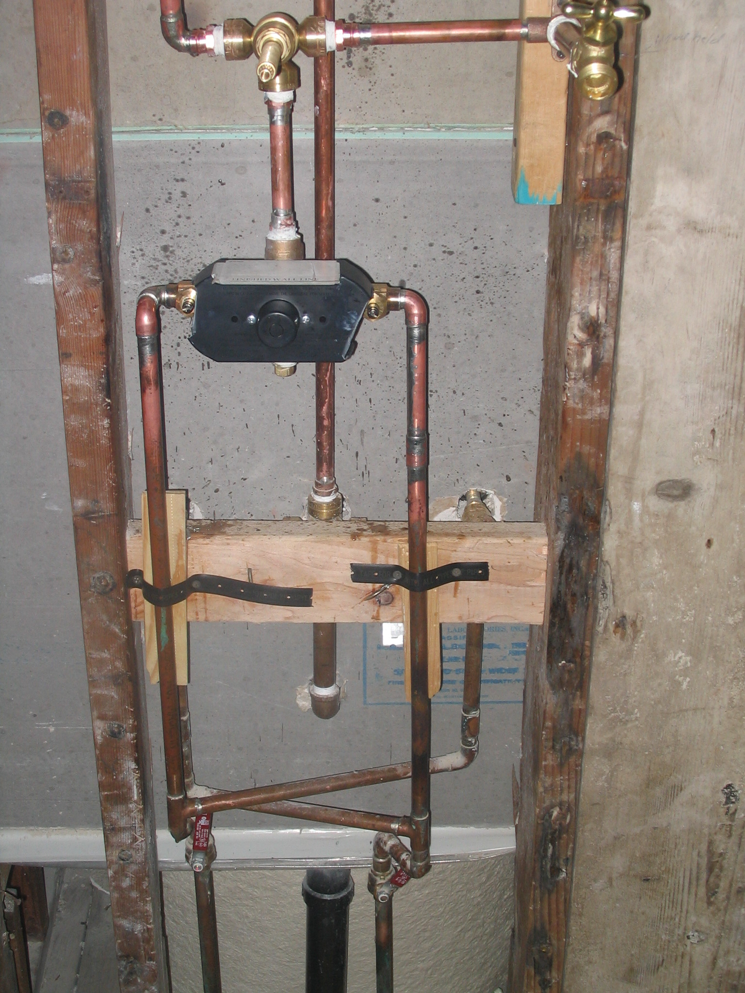 plumbing shower valve installation